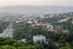 从阳台的看法Kislovodsk的 免版税库存图片