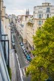 从阳台看见的巴黎 库存照片