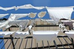 阳台洗衣店垂悬 库存图片