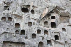 洛阳龙门石窟的菩萨在中国 免版税库存照片