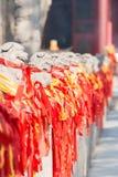 洛阳,中国- 2014年11月14日:在Guanlin寺庙的雕象 一famou 免版税库存照片