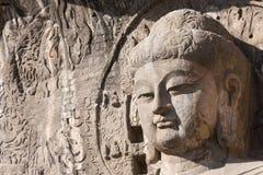 洛阳,中国- 2014年11月13日:龙门石窟 联合国科教文组织世界她 免版税库存图片