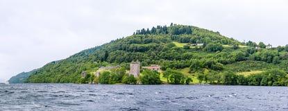 阴沉的天气的,苏格兰尼斯湖 图库摄影