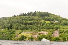 阴沉的天气的,苏格兰尼斯湖 免版税库存图片