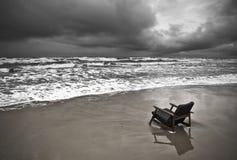 阴沉的海滩 图库摄影