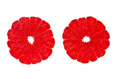 阴级射线示波器新鲜的葡萄柚红色成& 免版税库存照片