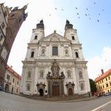 阴险的人教会, Klatovy,捷克 图库摄影