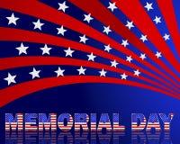 阵亡将士纪念日。与美国fl的样式的美好的文本 免版税库存照片