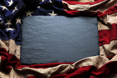 阵亡将士纪念日或第4的美国国旗背景7月 库存照片