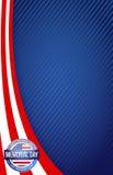 阵亡将士纪念日红色白色和蓝色 免版税库存图片