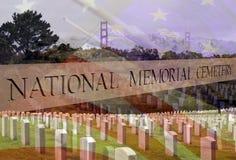 阵亡将士纪念日进贡下落的战士 图库摄影