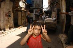 阵营儿童巴勒斯坦人 库存照片