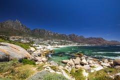 阵营全景咆哮,开普敦的一个富有郊区,西开普省,南非 免版税图库摄影