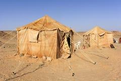 阵营在撒哈拉大沙漠 免版税图库摄影