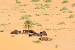 阵营沙漠 免版税库存照片