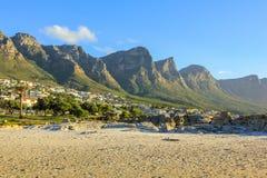 阵营海湾南非 免版税库存图片