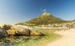 阵营海湾海滩在开普敦,南非 库存图片