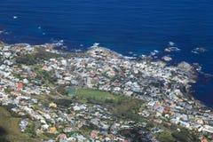 阵营海湾鸟瞰图在南非 免版税库存照片