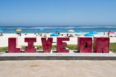 阵营海湾,南非海滩  图库摄影