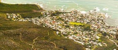 阵营海湾,南非看法  库存照片