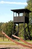 阵营荷兰语前面的过帐手表westerbork 库存照片