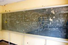 阵营黑板基加利学校 免版税库存照片