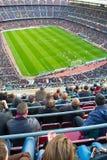 阵营Nou体育场的全视图足球比赛的 免版税库存图片