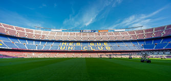 阵营Nou巴塞罗那足球俱乐部 免版税图库摄影