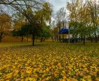 阶段在秋季公园在小波兰城市 图库摄影
