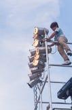 阶段照明设备 库存照片