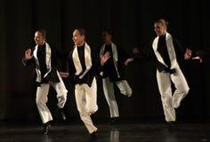 阶段犹太舞蹈的孩子 免版税库存照片