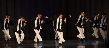 阶段犹太舞蹈的孩子 库存照片