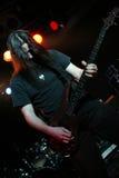 阶段的吉他弹奏者 图库摄影