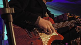 阶段的吉他演奏员 股票视频