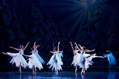 阶段的芭蕾舞女演员 免版税库存图片