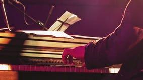 阶段的钢琴演奏者 股票录像