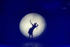 阶段舞蹈家 免版税库存图片