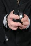 阻塞的商人鼠标 免版税库存照片