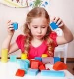 阻拦儿童游戏空间木头 库存照片