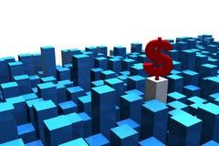 阻拦商业 向量例证