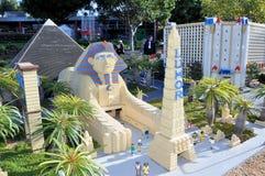 阻拦城市las lego做的维加斯 库存照片