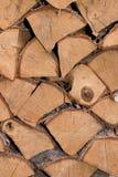 阻拦木头 免版税库存图片