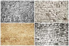 阻拦砖纹理 库存照片