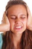 阻拦青少年的痛苦 免版税库存图片