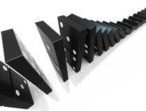 阻拦Domino 库存图片