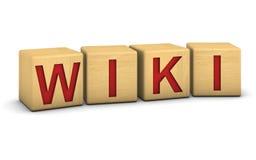 阻拦wiki木头 免版税库存照片