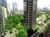 阿亚拉三角在阿亚拉, makati城市,菲律宾 库存图片