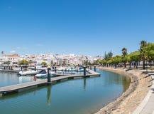阿亚蒙特小游艇船坞,港口,安达卢西亚,西班牙 免版税库存照片