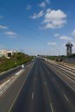 阿亚隆高速公路,特拉维夫,以色列 免版税库存照片