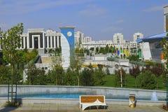 阿什伽巴特,土库曼斯坦- 9月26 2017年:一部分的体育 免版税库存图片